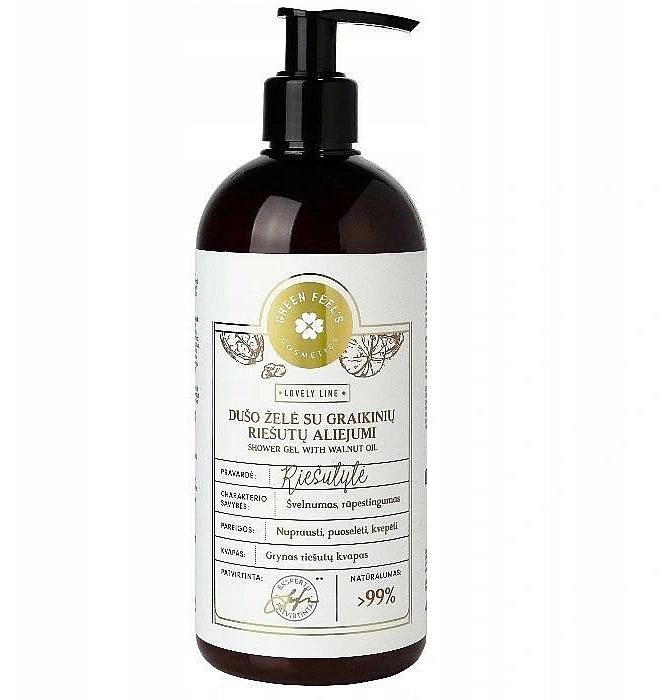 Orzechowy żel pod prysznic - Green Feel's Shower Gel With Walnut Oil — фото N1