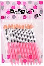 Kup Zestaw różowych aplikatorów cieni do powiek - Fashion Cosmetic