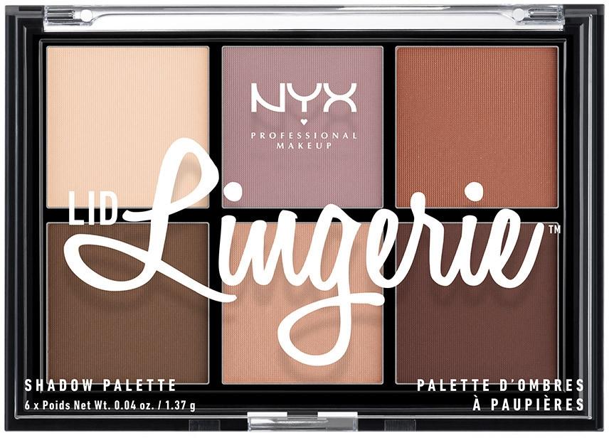 Paletka cieni do powiek - NYX Professional Makeup Lid Lingerie Shadow Palette