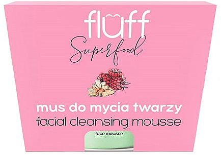 Mus do mycia twarzy Malina i migdał - Fluff Facial Cleansing Mousse Raspberry & Almonds — фото N1