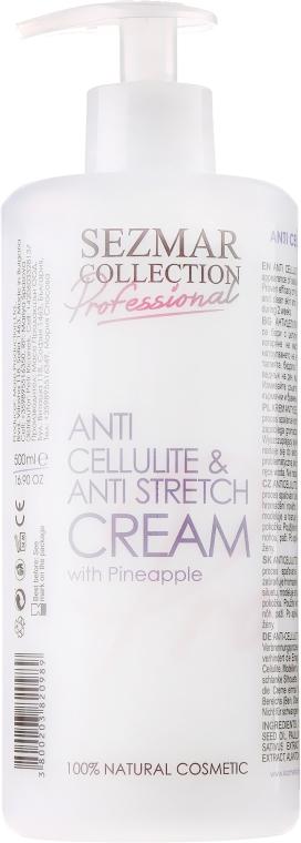 Antycellulitowy krem przeciw rozstępom Ananas - Sezmar Collection Professional Anti Cellulite & Anti Strech Cream — фото N1
