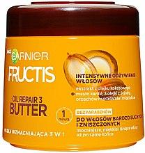 Kup Wzmacniająca maska do włosów bardzo suchych i zniszczonych - Garnier Fructis Oil Repair 3 Butter