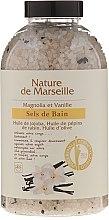 Kup Sól do kąpieli z naturalnymi olejkami i suszonymi owocami o zapachu magnolii i wanilii Relaksująca kąpiel - Nature de Marseille