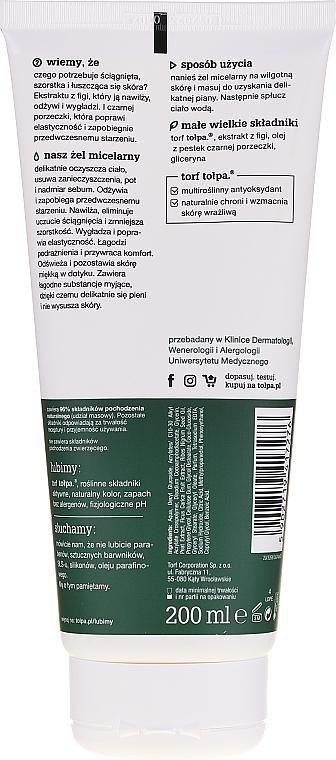 Odżywczy żel micelarny pod prysznic z ekstraktem z figi i czarnej porzeczki - Tołpa Green — фото N2