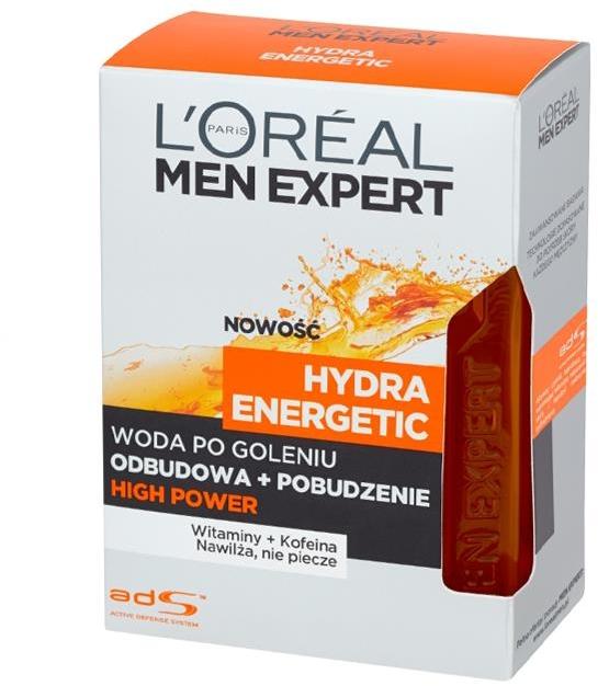 Woda po goleniu Odbudowa + Pobudzenie High Power Hydra Energetic - L'Oreal Paris Men Expert