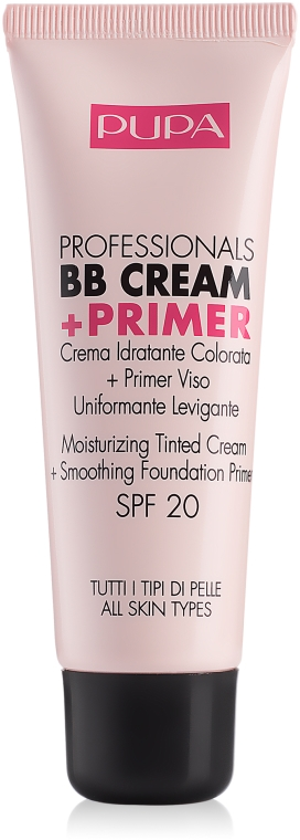 Krem BB i baza pod makijaż do każdego typu cery - Pupa Professionals BB Cream + Primer SPF 20