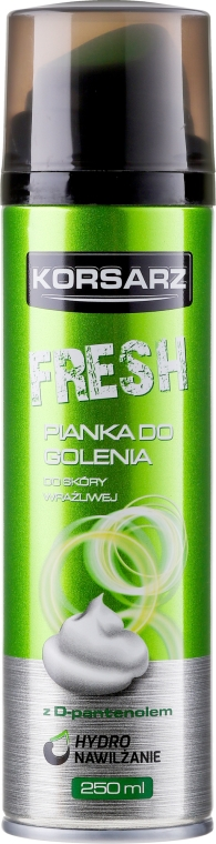 Pianka do golenia - Pharma CF Korsarz Fresh Shaving Foam