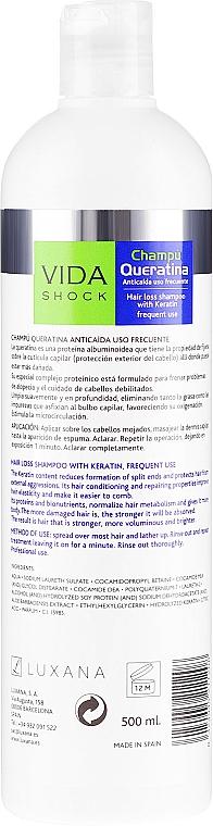 Szampon z keratyną - Luxana Vida Shock Keratine Shampoo — фото N2