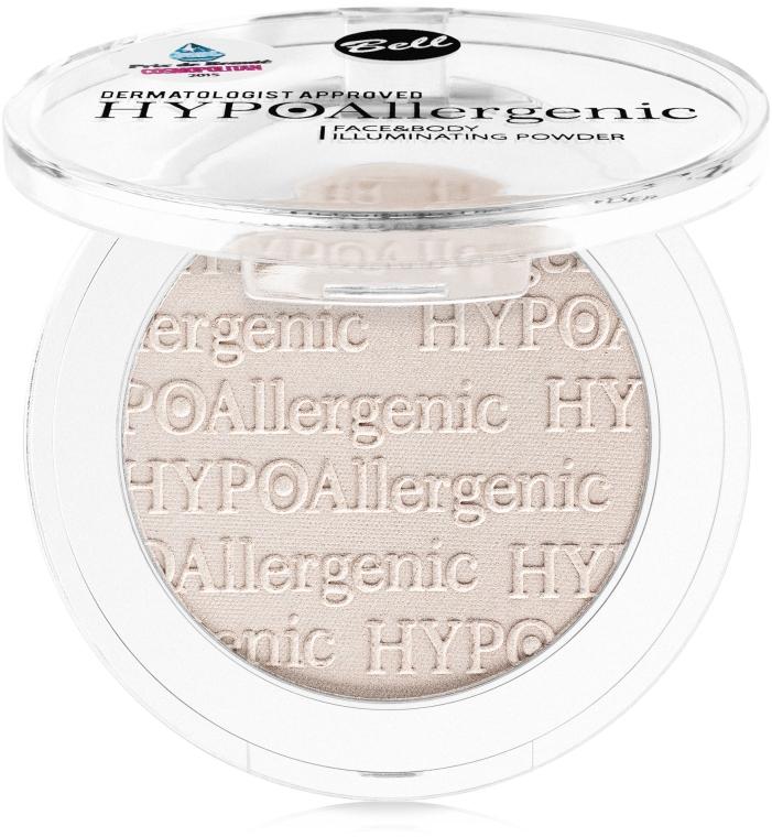 Hipoalergiczny rozświetlacz do twarzy i ciała - Bell HYPOAllergenic Face & Body Illuminating Powder — фото N1