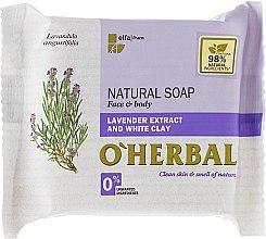 Kup Naturalne mydło w kostce z ekstraktem z lawendy i glinki białej - O'Herbal