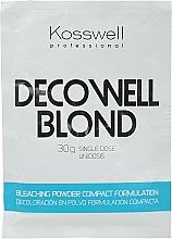 Kup Rozjaśniający puder do włosów blond - Kosswell Professional Decowell Blond