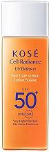 Kup Krem przeciwsłoneczny SPF 50 - KOSE Cell Radiance UV Defencer Sun Care Lotion SPF 50