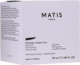 Kup PRZECENA! Krem tonizująco-ujędrniający z kwasem hialuronowym - Matis Réponse Corrective Lift-Perf Cream*