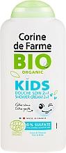 Kup Organiczny krem pod prysznic 2 w 1 do ciała i włosów dla dzieci Bratki i wiśnia - Corine de Farme Bio Organic Kids Shower Gel
