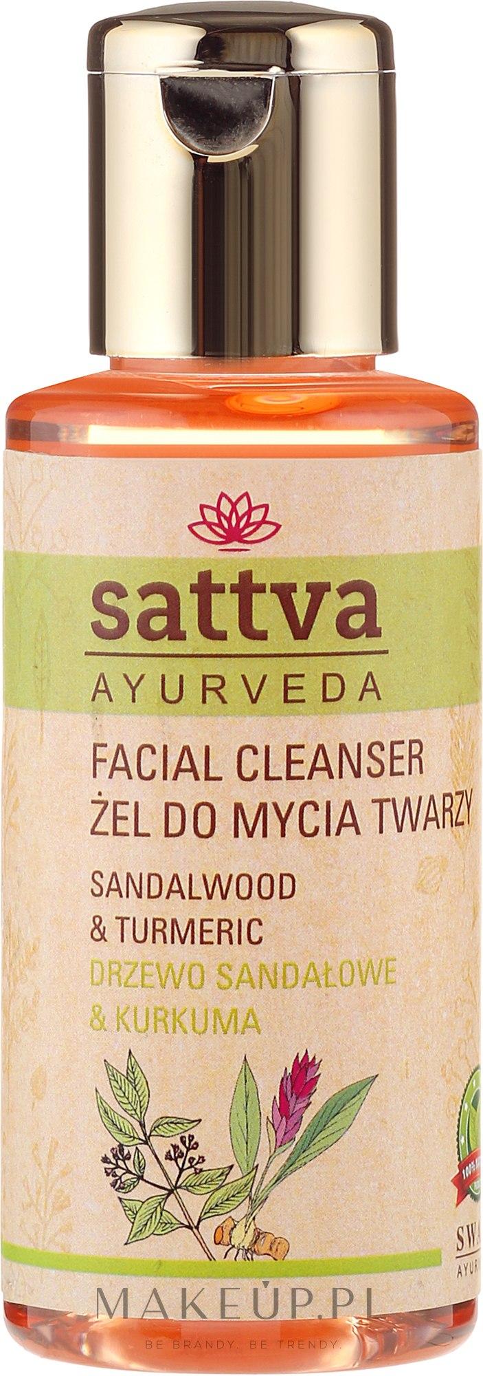 Żel do mycia twarzy Drzewo sandałowe i kurkuma - Sattva Facial Cleanser Sandalwood — фото 100 ml