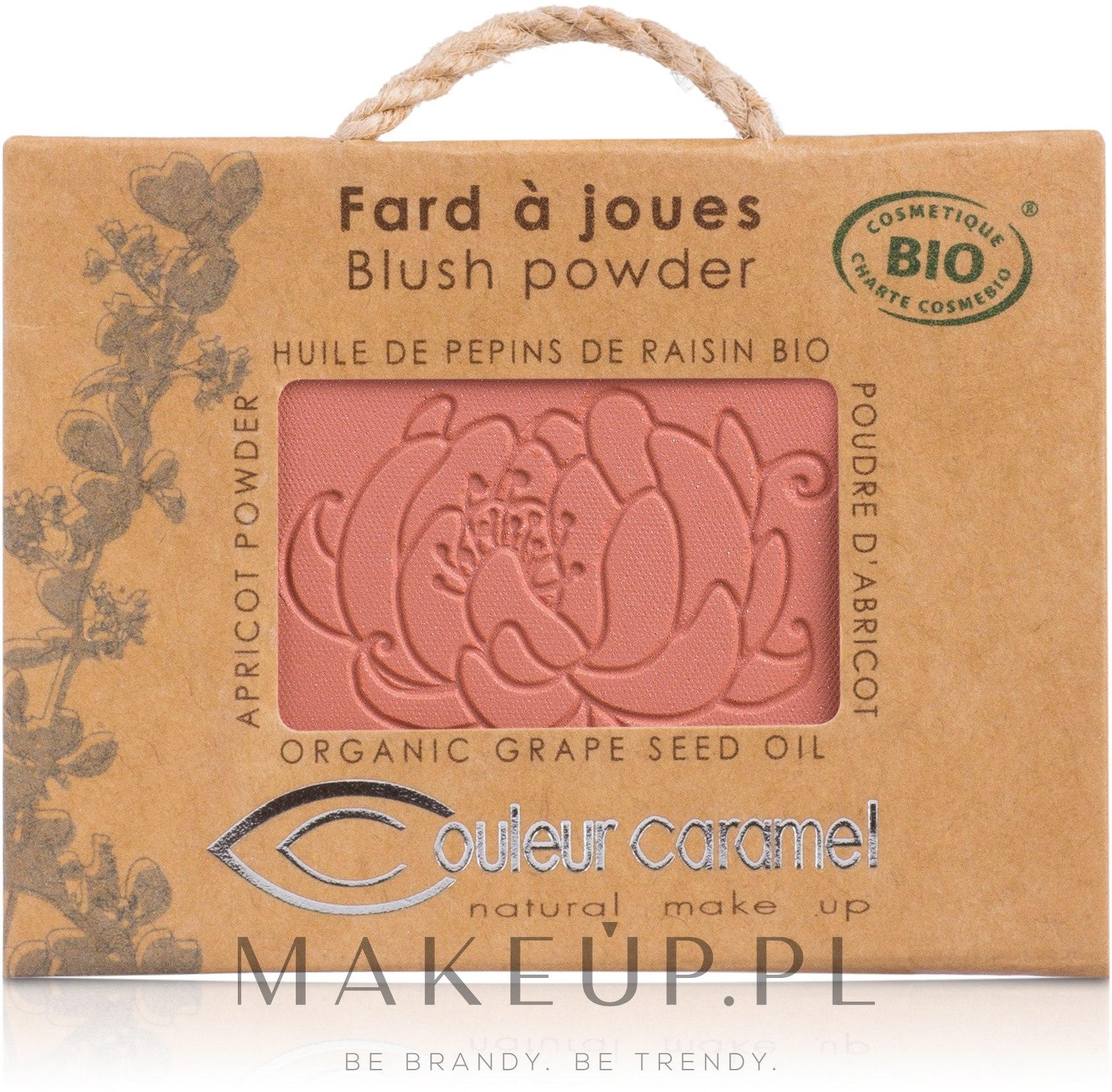 Mineralny róż do policzków - Couleur Caramel Blush Powder — фото 53 - Shine Rose