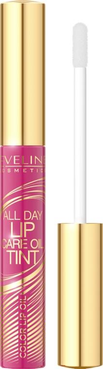 Koloryzujący olejkowy tint do ust - Eveline Cosmetics All Day Lip Care Oil Tint