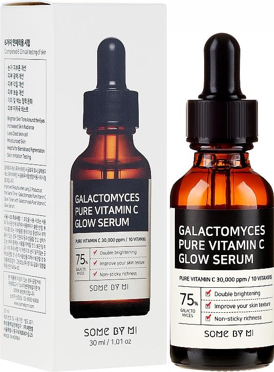 Rozjaśniające serum do twarzy z witaminą C i filtratem z grzybów - Some By Mi Galactomyces Pure Vitamin C Glow Serum