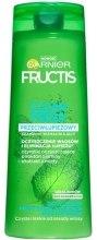Kup Przeciwłupieżowy szampon wzmacniający do włosów przetłuszczających się z łupieżem - Garnier New Fructis Clean Fresh Shampoo