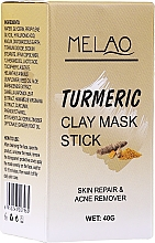 Kup PRZECENA! Glinkowa maska w sztyfcie do twarzy Kurkuma - Melao Turmeric Clay Mask Stick*