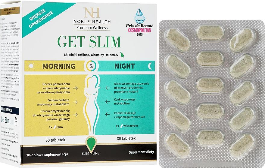 Suplement diety wspomagający odchudzanie, 90 szt - Noble Health Get Slim Morning & Night
