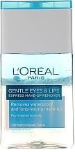 Kup Łagodny płyn do uwuwania wodoodpornego makijażu oczu i ust - L'Oreal Paris Gentle Eyes&Lips Express Make-Up Remover Waterproof