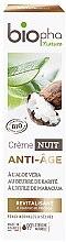 Kup Rewitalizujący krem do twarzy na noc przeciw zmarszczkom - Biopha Nature Crème Nuit Anti-Age