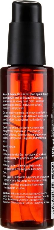 Olejek do ciała i włosów - Loton Argan & Jojoba Oil — фото N2