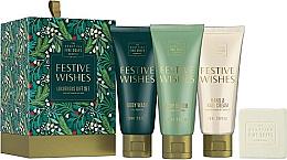 Kup Zestaw - Scottish Fine Soaps Festive Wishes Luxurious Gift Set (sh/gel 75 ml + b/cr 75 ml + hand/nailcr 75 ml + soap 40 g)