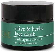 Kup Peeling do twarzy z oliwą z oliwek i ekstraktami ziołowymi - Yellow Rose Olive & Herbs Face Scrub