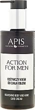 Odżywczy krem do ciała i dłoni - APIS Professional For Men Action Nourishing Cream — фото N3