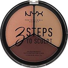 Kup Paletka do konturowania twarzy - NYX Professional Makeup 3 Steps To Sculpt Face Sculpting Palette