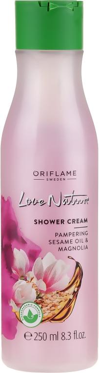 Balsam pod prysznic Olej sezamowy i magnolia - Oriflame Love Nature Shower Cream  — фото N1