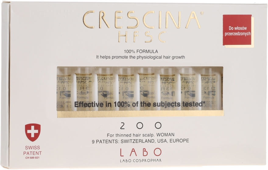 Balsam-koncentrat do przywrócenia wzrostu włosów u kobiet - Labo Crescina HFSC Re-Growth 200 — фото N1