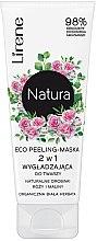 Kup Wygładzający ekopeeling-maska 2 w 1 do twarzy z naturalnymi drobinkami róży i maliny Organiczna biała herbata - Lirene Natura Eco Peeling-Mask