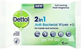 Kup Chusteczki antybakteryjne - Dettol 2in1 Anti-Bacterial Wipes