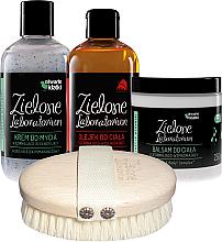 Kup PRZECENA! Zestaw - Zielone Laboratorium (b/massage + sh/cr 250 ml + b/balm 250 ml + b/oil 250 ml) *