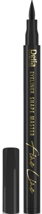 Eyeliner we flamastrze - Delia Shape Master Fine Line Eyeliner