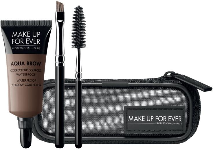 Zestaw do makijażu brwi - Make Up For Ever Aqua Brow Eyebrow Corrector Kit (corrector 7 ml + brush 2 pcs + bag) — фото N1