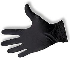 Kup Rękawice nitrylowe, bezpudrowe, czarne, rozmiar M - Maxsafe