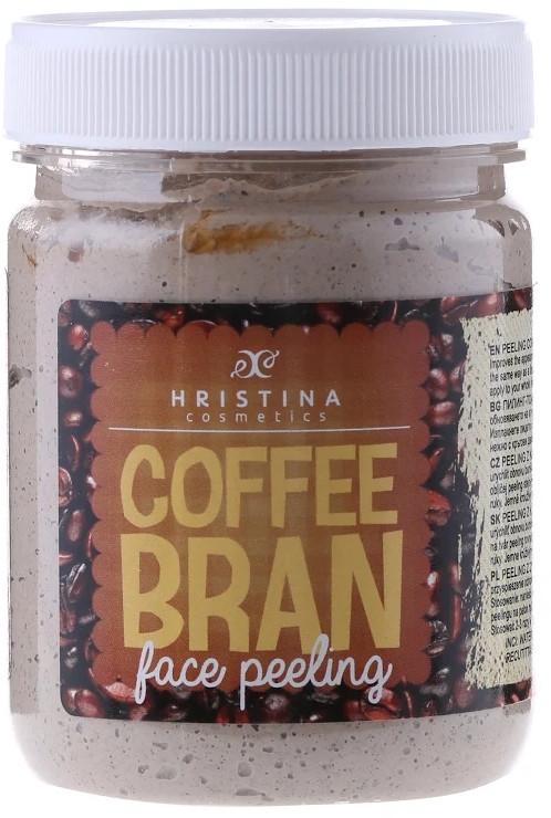 Naturalny peeling do twarzy Zmielona kawa - Hristina Cosmetics Coffee Bran Face Peeling — фото N1