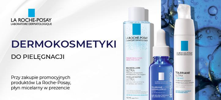 Przy zakupie promocyjnych produktów La Roche-Posay, płyn micelarny otrzymasz w prezencie.