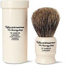 Kup Pędzel do golenia, 8,5 cm z etui podróżnym - Taylor of Old Bond Street Shaving Brush Pure Badger