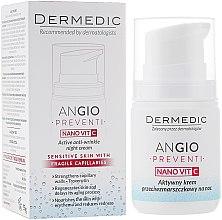 Kup Aktywny krem przeciwzmarszczkowy na noc do skóry wrażliwej i naczynkowej - Dermedic Angio Preventi Nano Vit C