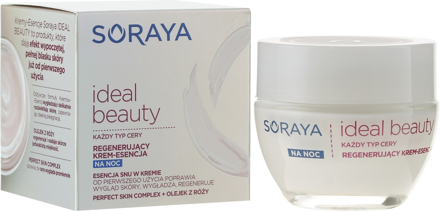 Regenerujący krem-esencja do twarzy - Soraya Ideal Beauty Night Cream Essence