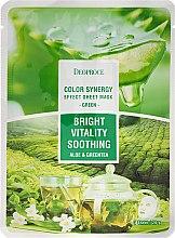 Kup Rozjaśniająca maska antyoksydacyjno-kojąca na tkaninie do twarzy Aloes i zielona herbata - Deoproce Color Synergy Effect Sheet Mask Green