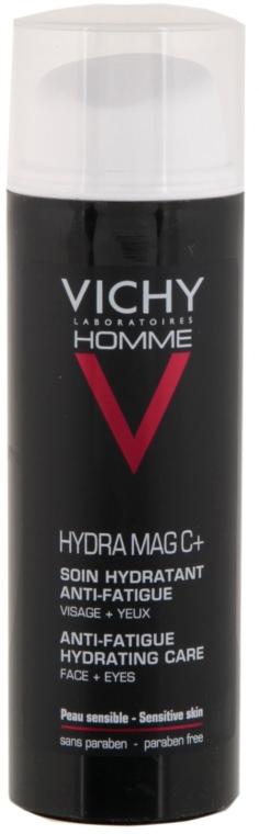 Nawilżający krem do twarzy i okolic oczu - Vichy Homme Hydra Mag C+ Anti-Fatigue Hydrating Care — фото N2