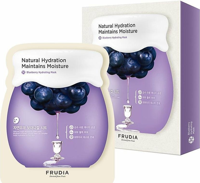 Nawilżająca maska do twarzy na tkaninie z ekstraktem z jagód - Frudia Natural Hydration Maintains Moisture Blueberry Mask — фото N3