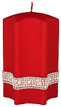 Kup PRZECENA! Świeca dekoracyjna, czerwona gwiazda, 9 x 14 cm - Artman Crystal Opal Pearl *
