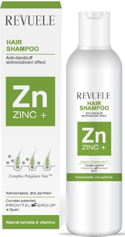 Przeciwłupieżowy szampon do włosów - Revuele Zinc+ Hair Shampoo — фото N1